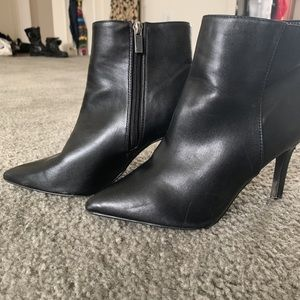 Faux leather f21 ankle booties